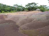 foto of chamarel  - Chamarel Seven Coloured Earths On Mauritius Island - JPG