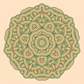 Mandala. Round Ornament Pattern.
