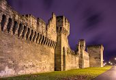 picture of avignon  - Defensive walls of Avignon a UNESCO heritage site in France - JPG