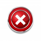 Multiply Circular Red Vector Web Button Icon