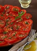 Tomatoes In Garlic Marinade
