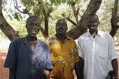 Three Friends Of Burkina Faso