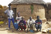 A Family Of People Of Burkina Faso Kokemnoure