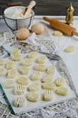 Fresh homemade potato gnocchi