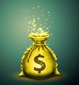 stock photo of money prize  - Bag of money - JPG