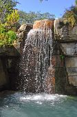 Rock wall with a waterfall