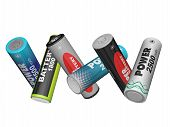 Scatter In Different Directions Aa Batteries