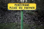 Pedestrians Sign