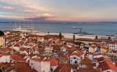 View Of The River Tagus In Lisbon, Portugal