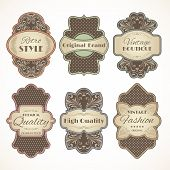 Vintage labels set