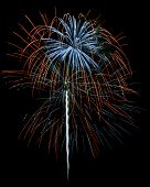 Red White And Blue Fireworks Isolated