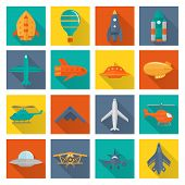 Aircraft icons set