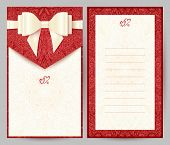 Elegant stylish red greeting card