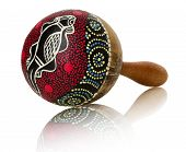 Vintage Maraca Isolated On The White Background
