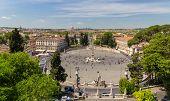 View Of Piazza Del Popolo In Rome, Italy