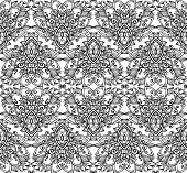 Ornate vintage vector seamless pattern