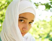 picture of muslim kids  - Beautiful Muslim girl in nature - JPG