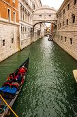 Bridge Of Sighs With Gondola