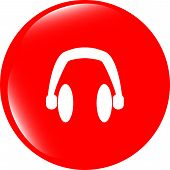 Modern Headphone Buttons Web Icon
