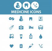 medicine, medical, hospital, doctor icons, signs, symbols set, vector