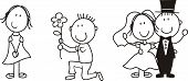 pic of love couple  - set of isolated couple cartoon - JPG