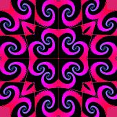 Decorative fractal pattern with spirals
