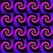 Seamless decorative pattern with a purple spirals.