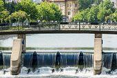 Bridge Over Dambovita River In Bucharest