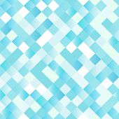 Seamless background with shiny blue squares