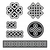pic of braids  - Set old traditional Celtic symbols - JPG