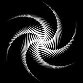 Design Monochrome Whirl Movement Octopus Background