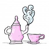 cartoon coffee pot and cup
