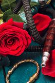 pic of shisha  - set foto composition with shisha and accessories - JPG