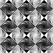 Design Seamless Monochrome Decorative Geometric Pattern