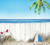 White Wooden Fence by the Beach
