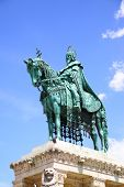 Statue of St. Stephen in Budapest, Hungary