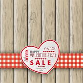 Heart Valentinsdaywooden Background