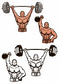 Bodybuilder lifting weights