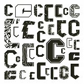 Set Versions Of Letters C