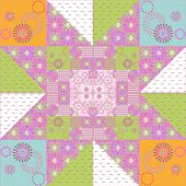 Patchwork Seamless Retro Pattern Texture Background
