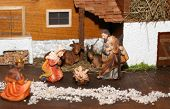 Nativity Scene With Holy Family Traditional Neapolitan Style