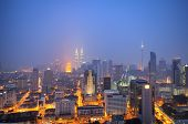 pic of klcc  - This image taken during blue hour and strong wind - JPG