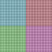 Vector illustration background. Easy tileable red, blue, pink and green gingham repeat pattern for p