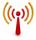 Glossy Wireless Symbol
