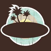 Tropical Beach Banner with two palm