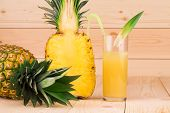 Delicious Pineapples and juice