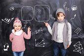 Boy And Girl Studying Mathematics