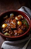 Beef braised in red wine sauce