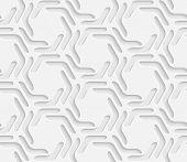 White Hexagon Pattern. Vector Seamless Background