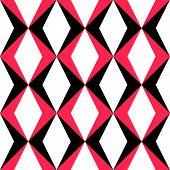 Seamless Rhombus Pattern. Vector Geometric Texture